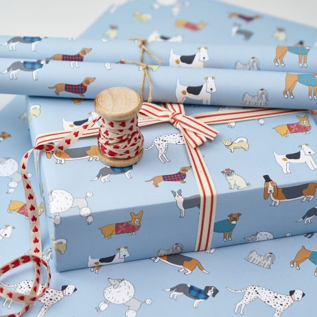 Dog Pattern Gift Wrap by Mary Kilvert