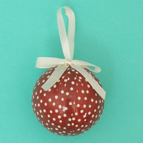 Trio of baubles - polka dot