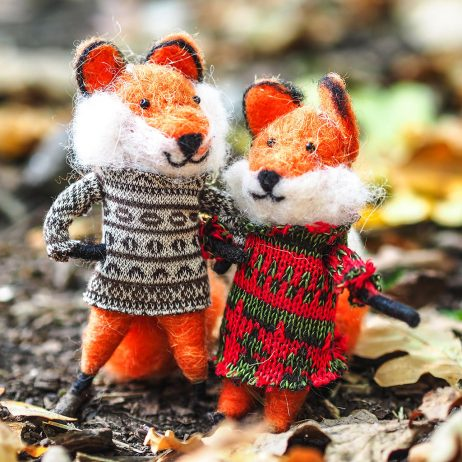 Felt Fox Decorations