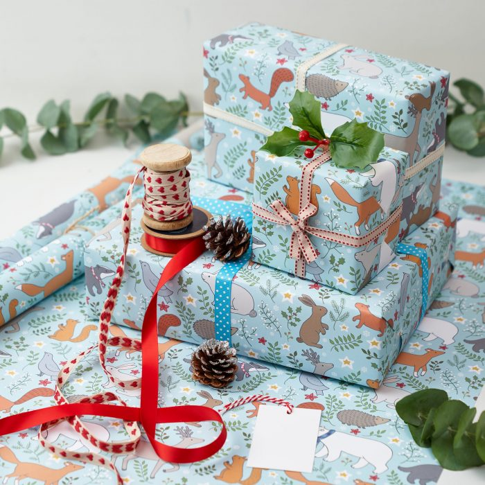 Winter Woodland Christmas Gift Wrap by Mary Kilvert