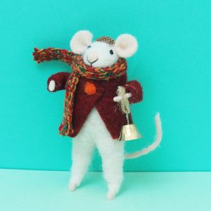 Felt Mouse with Bell Decoration