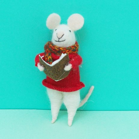 Felt Mouse with Book Decoration