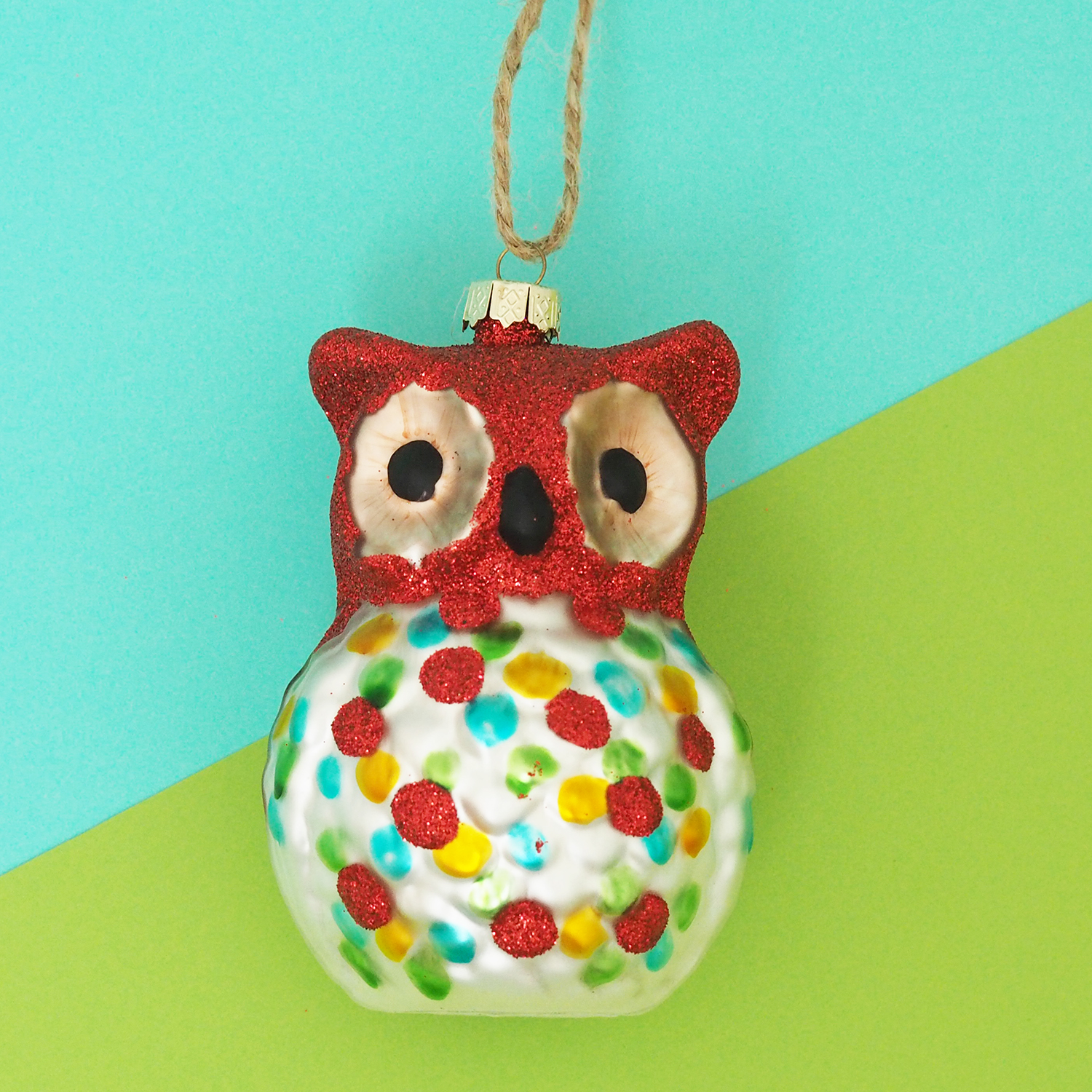 Colourful Glass Owl Decoration