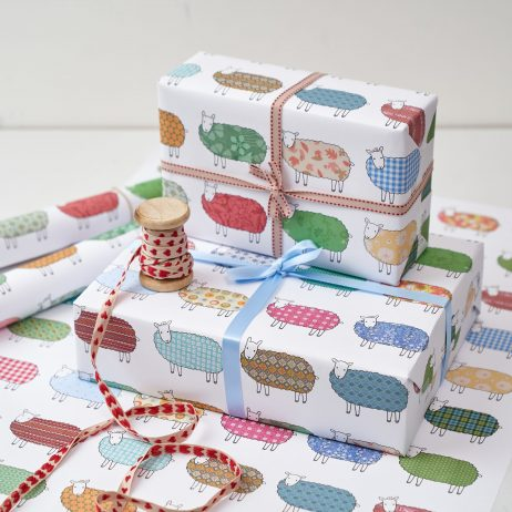 Colourful Sheep Gift Wrap by Mary Kilvert