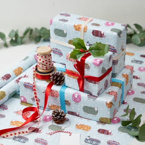 Sheep in the Snow Gift Wrap by Mary Kilvert