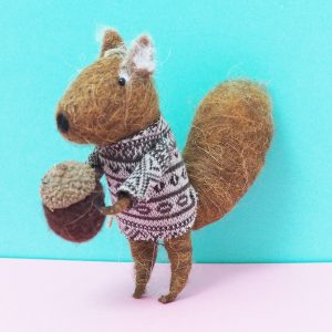 Felt Squirrel Decoration