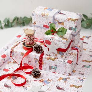 Christmas Canines Gift Wrap by Mary Kilvert