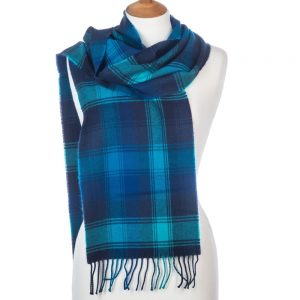 Blue Mix Merino Scarf by Avoca
