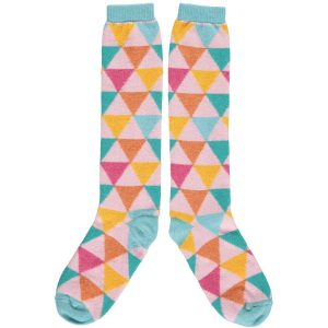 Multi Triangles Knee Socks