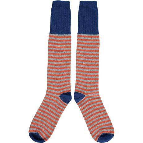 Burnt Orange Stripe Knee Socks by Catherine Tough
