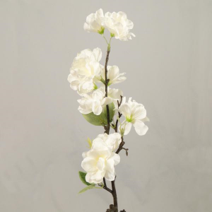 White Apple Blossom Silk Flowers
