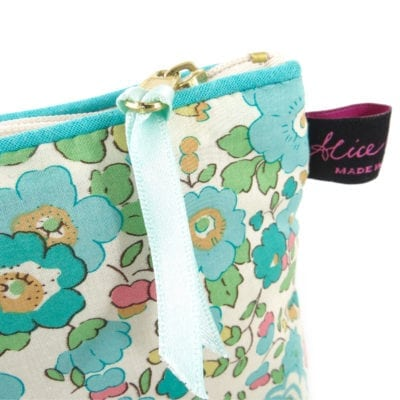 Betsy Turquoise Liberty Print Cosmetic Bag