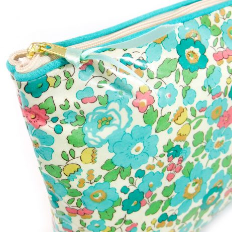 Betsy Turquoise Liberty Print Wash Bag