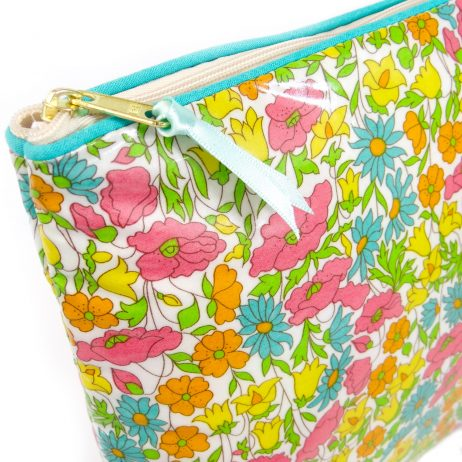 Poppy and Daisy Yellow Liberty Print Washbag