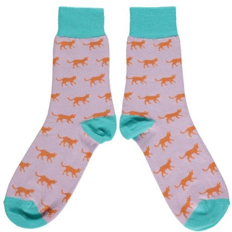 Cotton Orange Cat Ankle Socks by Catherine Tough