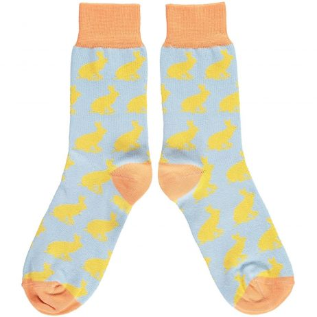 Cotton Yellow Rabbit Ankle Socks by Catherine Tough