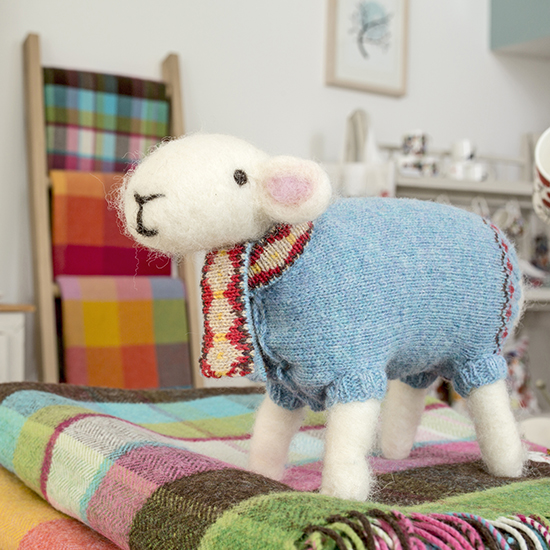Baatholomew Felted Sheep by Mary Kilvert