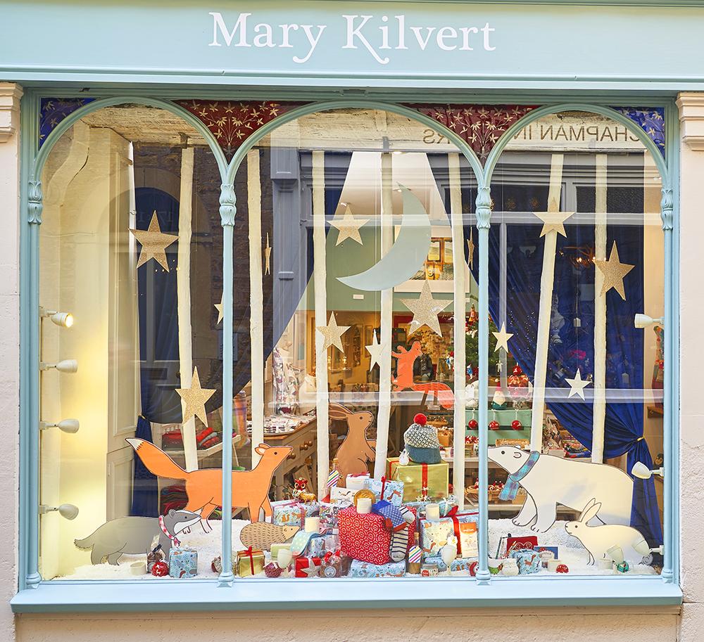 Winter Wonderland Window at Mary Kilvert Shop and Studio