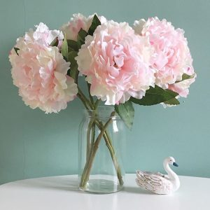 Peony silk flowers in pink