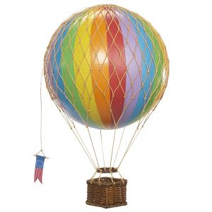 Medium Rainbow Hot Air Balloon Model