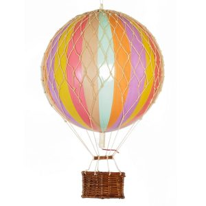 Medium Pastel Rainbow Hot Air Balloon Model