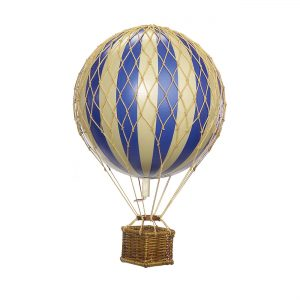 Small Blue Hot Air Balloon Model