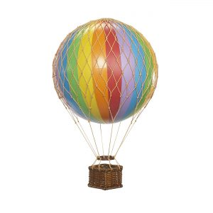 Small Rainbow Hot Air Balloon Model