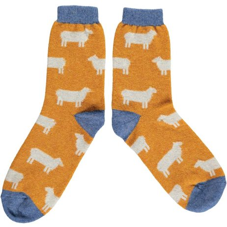 Lambswool Sheep Ankle Socks - Ginger by Catherine Tough