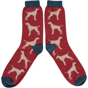 Lambswool Hound Ankle Socks by Catherine Tough