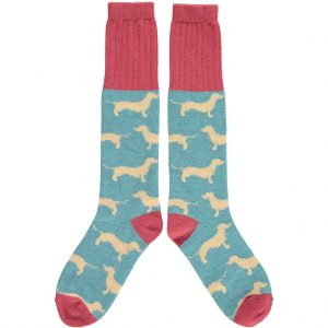 Lambswool Dachshund Knee Socks by Catherine Tough