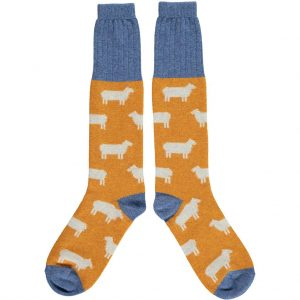 Lambswool Sheep Knee Socks - Ginger by Catherine Tough