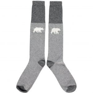 Lambswool Polar Bear Knee Socks by Catherine Tough