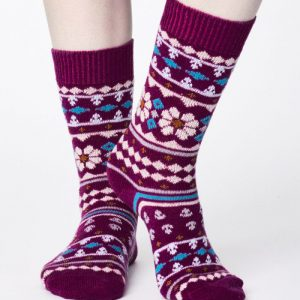 Viktoir Woollen Socks in Cyclamen