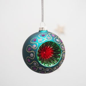 Retro Glass Bauble Decoration