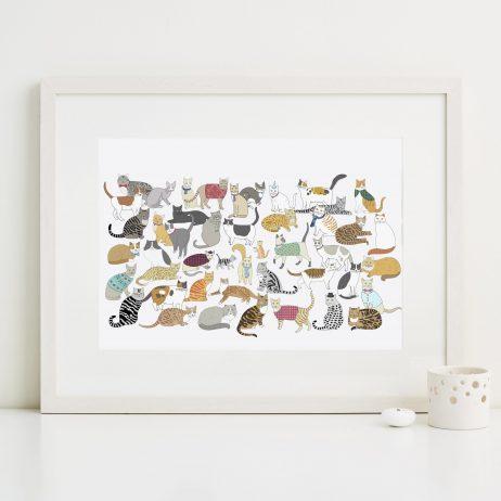 Cradle of Crafty Cats Fine Art Print