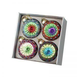 Colourful Glass Bauble Decorations