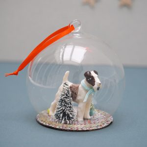 Terrier Globe Ornament
