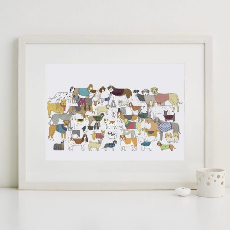 Pack of Proud Pooches Fine Art Print