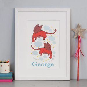 Personalised Dragon Print