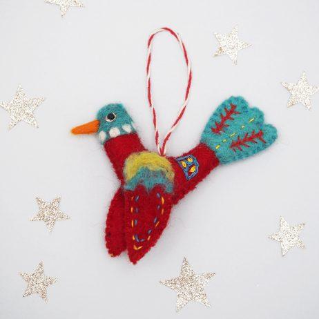 Felt Folk Bird Decoration