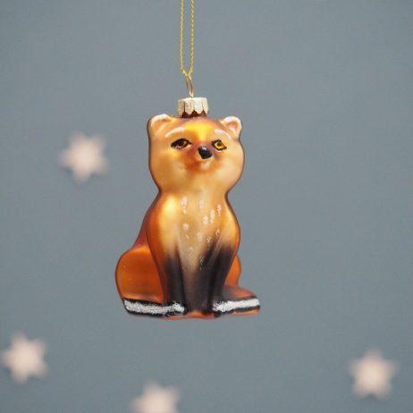Glass Fox Decoration