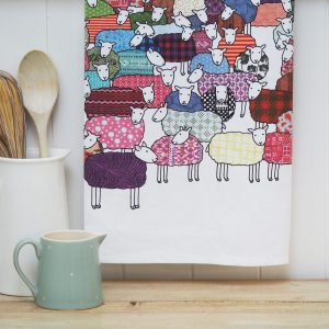Flock of Colourful Sheep Tea Towel - Mary Kilvert