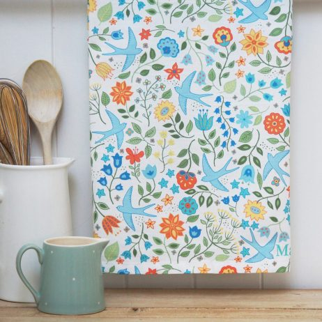 Summer Swallows Tea Towel - Mary Kilvert