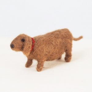 Felted Dachshund by Mary Kilvert