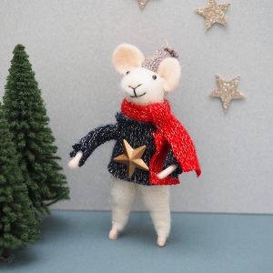 Felt Mouse with Star Decoration