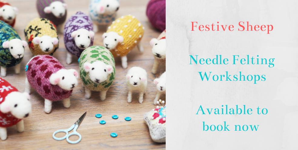 Festive Sheep Needle Felting Workshop at Mary Kilvert