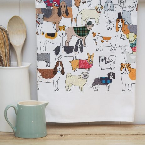 Pack of Proud Pooches Tea Towel - Mary Kilvert