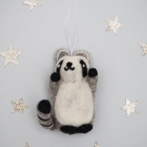 Felt Raccoon Decoration