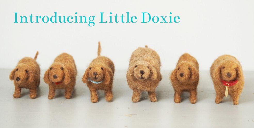 Little Doxie - Felt Dachshund by Mary Kilvert