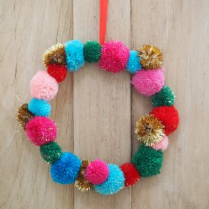Small Pom Pom Wreath